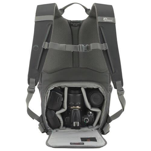 Mochila para cámara Lowepro Hatchback espacio interior