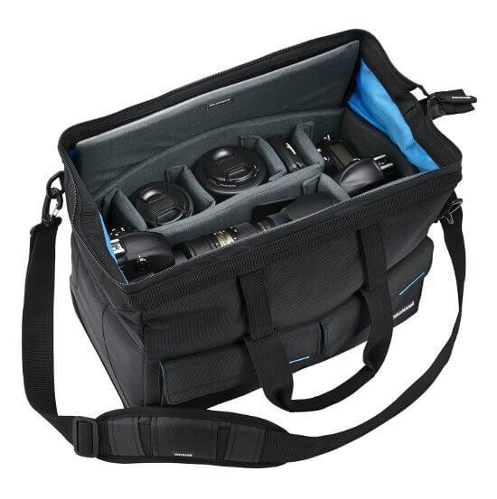 Bolso de hombro para equipo fotográfico Cullman. Interior acolchado
